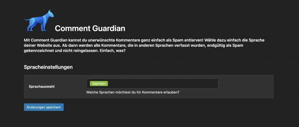 WordPress Kommentare Spam entfernen mit Spracherkennung